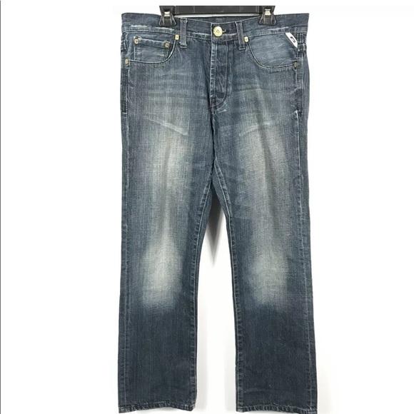 Jack & Jones Jeans Straight Leg Blue Distressed
